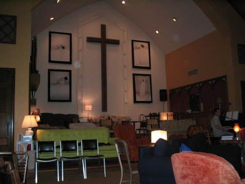 choir loft cross